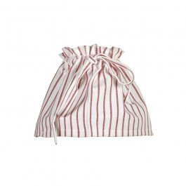 Lampskirt Striped red/white 20 cm