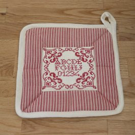 Pot Holder ABC vintagestyle , 23 x 23 cm