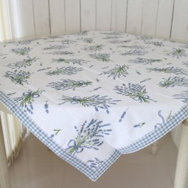 Tablecloth blue Lavender 100 x 100 cm