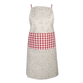 Apron Farmstyle, red 70 x 85 cm