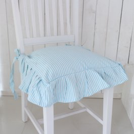 Seat cover Sundborn, iceblue striped volang