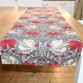 Tablecloth Pimpernel, red/grey 45 x 150 cm