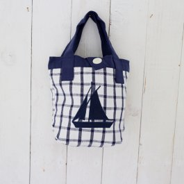 Mini bag Boat blue,  23 x 23 cm