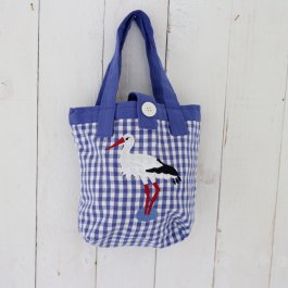 Mini bag Stork blue,  23 x 23 cm