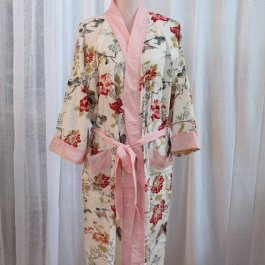 Dressing Gown Rose Floral, one size