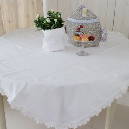 Tablecloth Nora monogram, 130 x 130