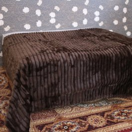 Bedspread /Throw Elegance brown, Faux Fur 260 x 260 cm