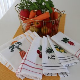 Kitchen towel Olive, 30 x 45 cm waffled
