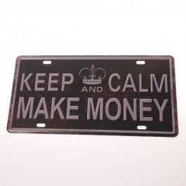 Tin Sign Vintage Keep Calm 30 x 13 cm
