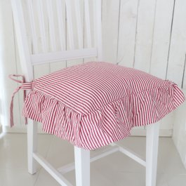 Seat cover Sundborn, red striped volang
