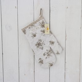 Oven Glove Antique Rose,16x30cm