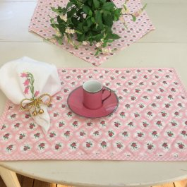 Placemat Amour Rose, 33 x 48 cm