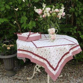 Tablecloth Roses, 100 x 100 cm