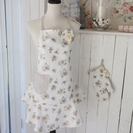 Apron Antique Rose, 68 x 75 cm