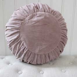Pillowcase Velvet, round, Pink/heather