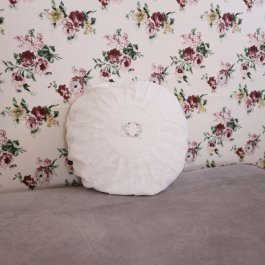 Pillowcase Lace WhiteOval, round 45 cm