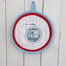 Pot Holder Sailing, round 23 cm