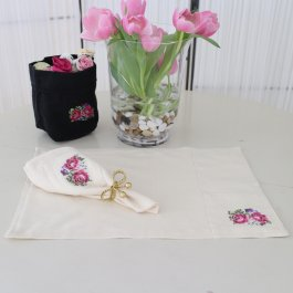 Placemat Shabby Rose Offwhite, 35 x 48 cm