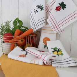 Kitchen towel Lemon, 30 x 45 cm waffled