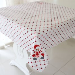 Tablecloth Snowman, 90 x 90 cm