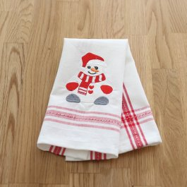Guest Towel Snowman white/red, dobby 30 x 45 cm