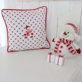 Pillowcase Snowman passoal, 40 x 40 cm