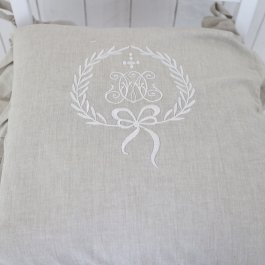 Seat cover Gustavia, linnebeige volang