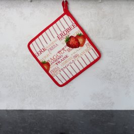 Pot Holder Strawberry, 23 x 23 cm