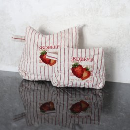 Makeup bag Strawberry, 15 x 20 cm