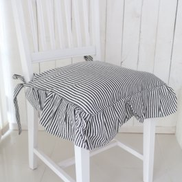 Seat cover Sundborn, black striped volang
