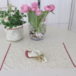 Placemat & napkin Sweetheart, 4 pack