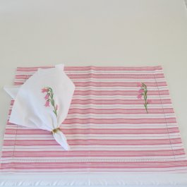 Placemat Floral Bell pink, 33 x 45 cm