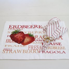Placemat Strawberry, 35 x 48 cm