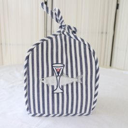 Tea Cozy Bistro, Blue striped