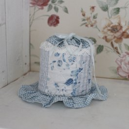Toilet roll holder, CountryStyle Blue