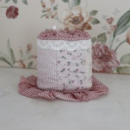 Toilet roll holder, CountryStyle Pink