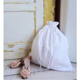 Laundrybag white Lace, 55 x 70 cm