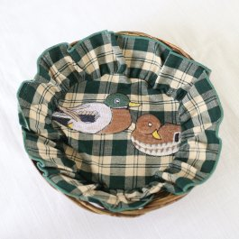 Cloth for breadbasket Duck checkered, 20 cm