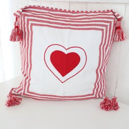 Pillowcase Vera red Heart, 50 x 50 cm