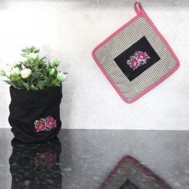 Pot Holder Vintage Rose, 23 x 23 cm