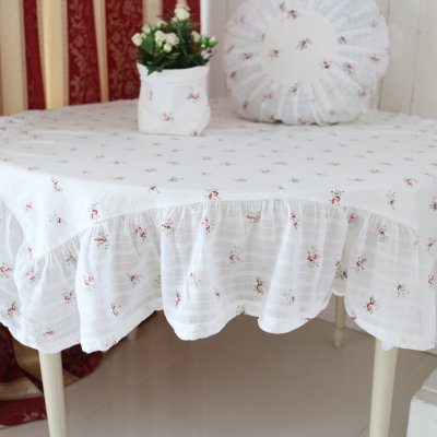 Tablecloth Eliza with ruffles, 140 x 140 cm
