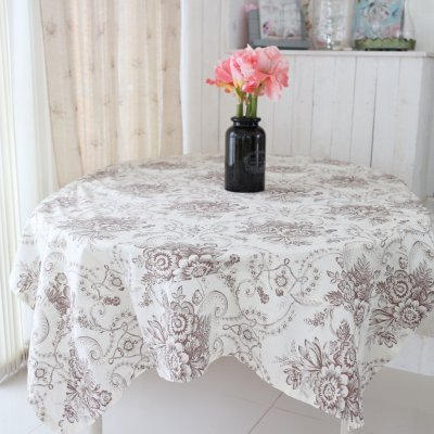 Tablecloth Toille Brun 140 x 245 cm