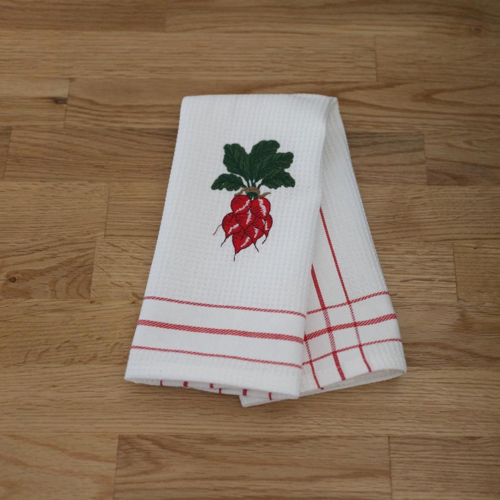 Kitchen Towel Radish 30 X 45 Cm Waffled Kitchen