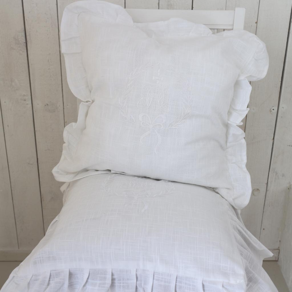 Pillowcase Gustavia, White 45 x 45 cm